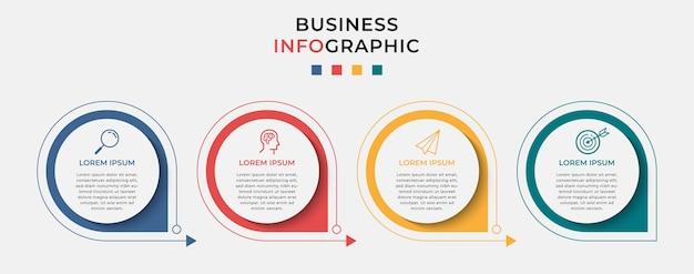 Zakelijke infographic in opties