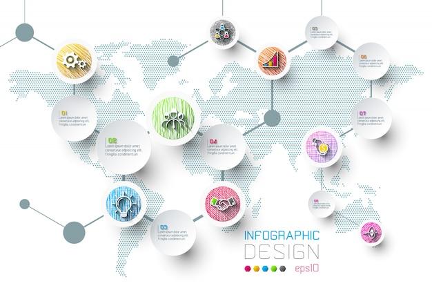 Zakelijke infographic met 8 stappen.
