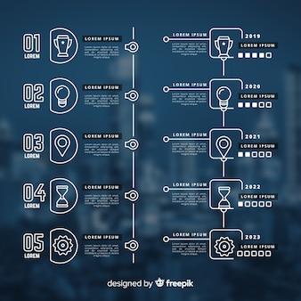Zakelijke infographic met afbeelding