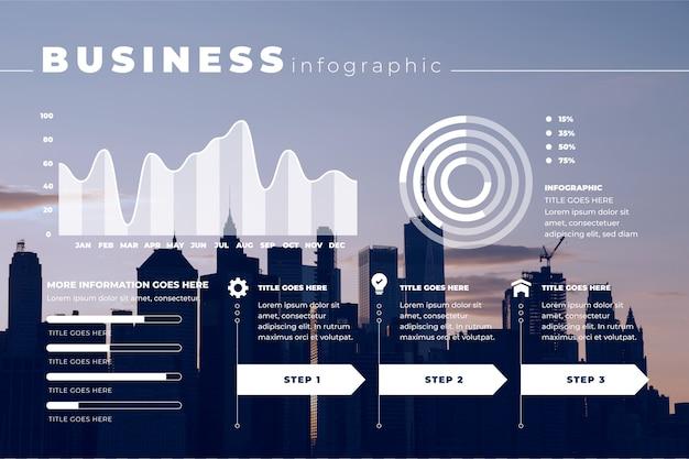 Zakelijke infographic met foto