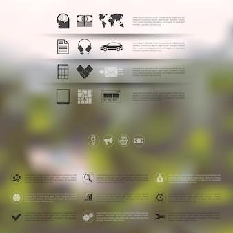 Zakelijke infographic met ongericht achtergrond