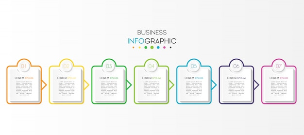 Zakelijke infographic met opties of stappen