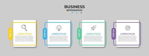 Zakelijke infographic met vier opties