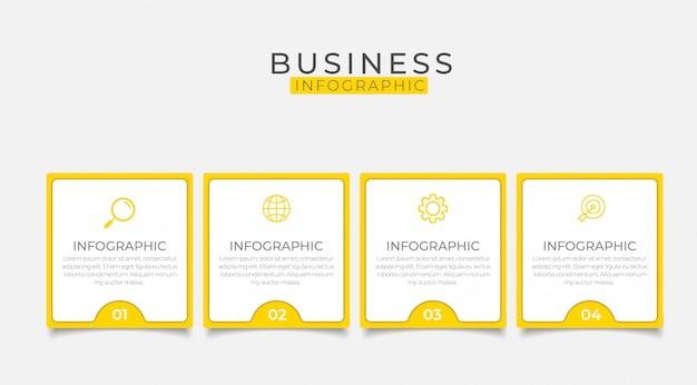 Zakelijke infographic ontwerp kan worden gebruikt voor de indeling van de workflow, diagram, jaarverslag.