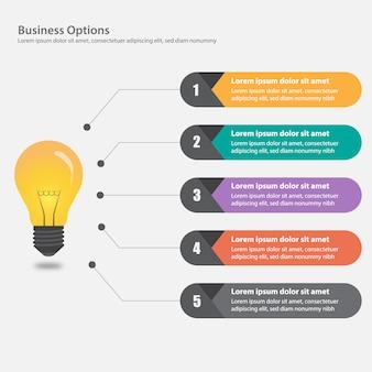Zakelijke infographic ontwerp