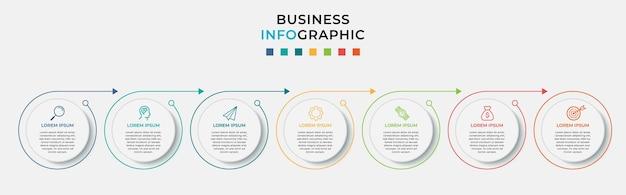 Zakelijke infographic ontwerpsjabloon met pictogrammen en opties