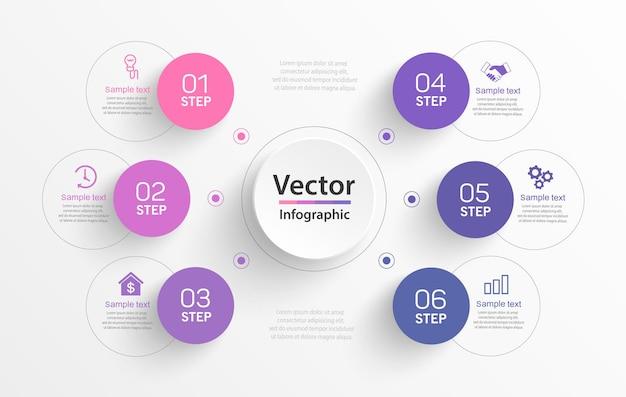 Zakelijke infographic ontwerpsjabloon met stappen