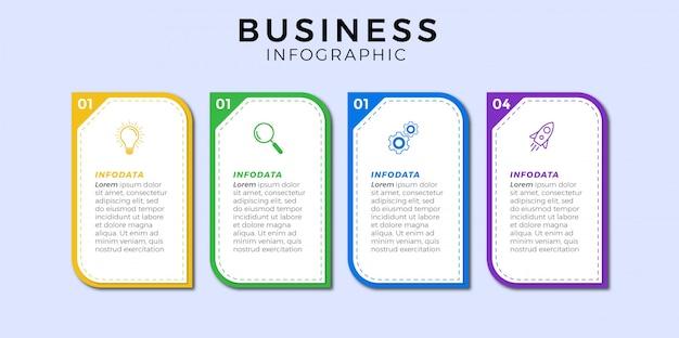 Zakelijke infographic pictogram 4 ontwerppremie