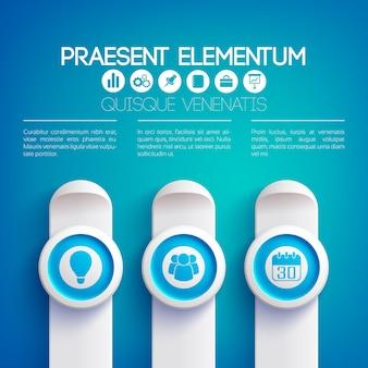 Zakelijke infographic presentatie