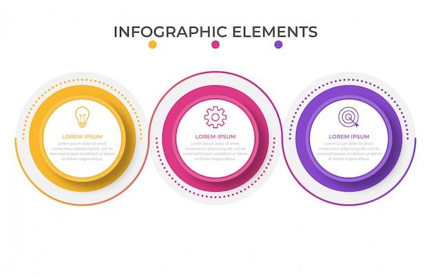 Zakelijke infographic presentatiesjabloon met 3 opties