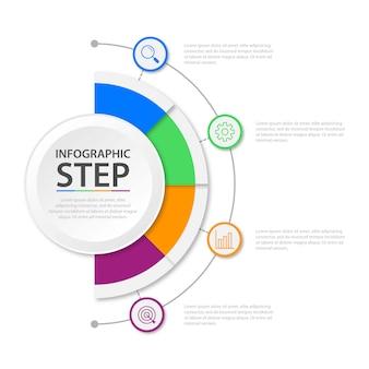 Zakelijke infographic presentatiesjabloon met 4 opties