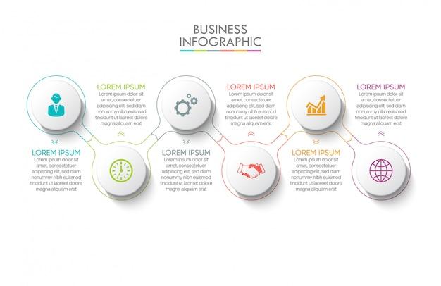 Zakelijke infographic presentatiesjabloon