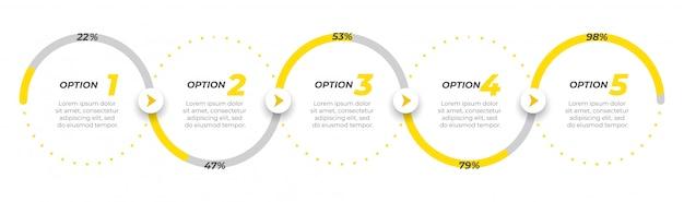 Zakelijke infographic sjabloon labelontwerp met pictogrammen.