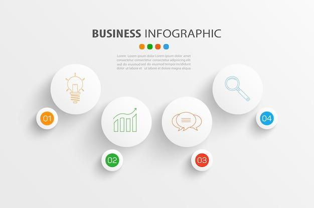 Zakelijke infographic-sjabloon met 4 opties