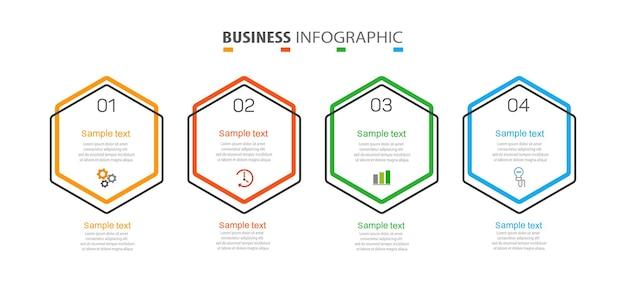 Zakelijke infographic sjabloon met 4 opties