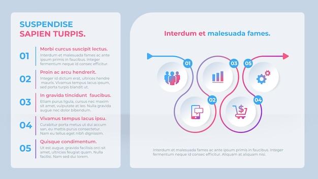 Zakelijke infographic sjabloon met opties of stappen