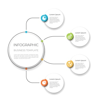 Zakelijke infographic sjabloon opties.