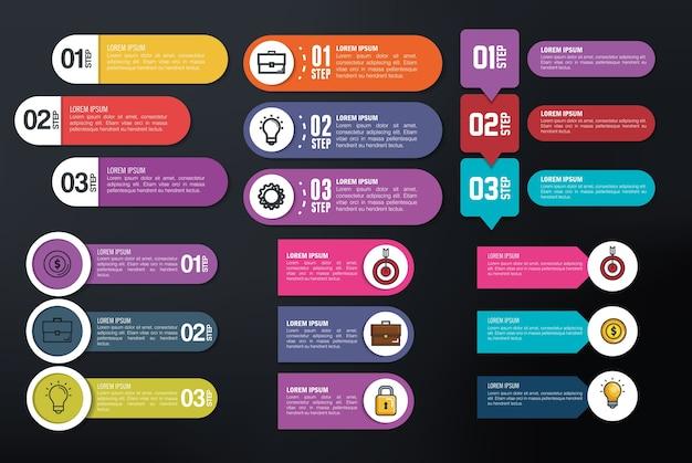 Zakelijke infographic sjabloon pictogrammen