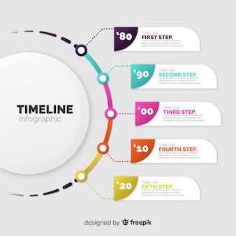 Zakelijke infographic sjabloon, samenstelling van infographic elementen
