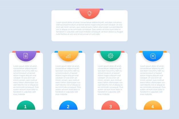Zakelijke infographic sjabloon voor presentatie