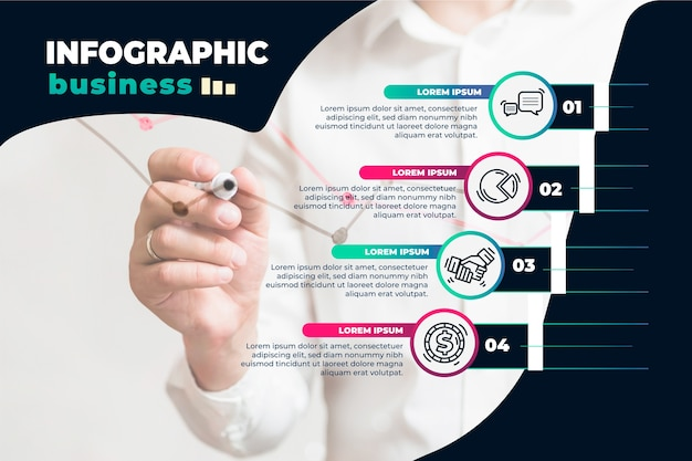 Zakelijke infographic sjabloon