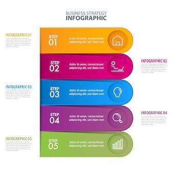 Zakelijke infographic-sjabloon