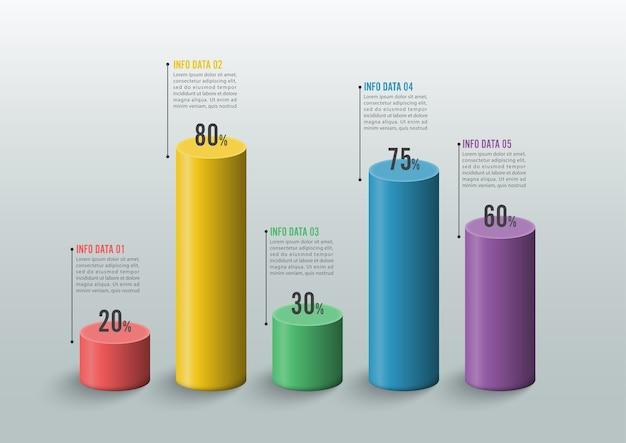 Zakelijke infographic sjabloon.
