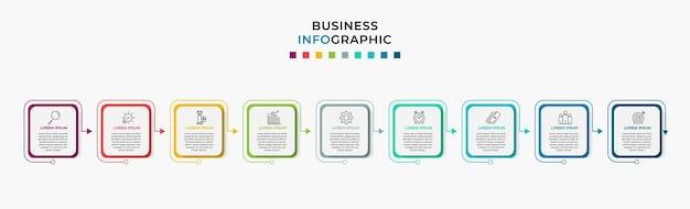 Zakelijke infographic stap sjabloon