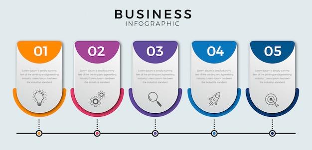 Zakelijke infographic stappen