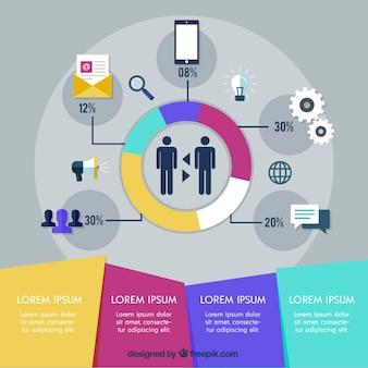Zakelijke infographic template
