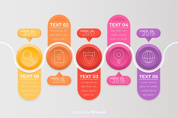 Zakelijke infographic tijdlijnsjabloon