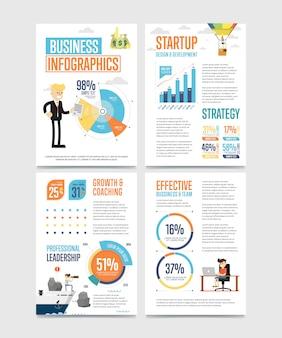 Zakelijke infographics banner instellen met grafieken