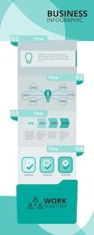 Zakelijke infographics cocnept
