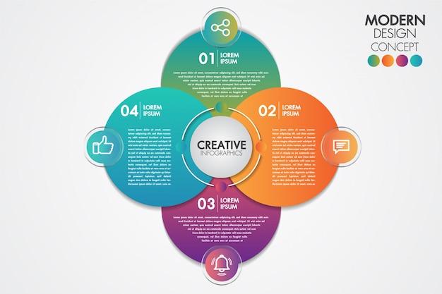 Zakelijke infographics element