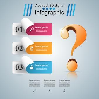 Zakelijke infographics en vraagteken