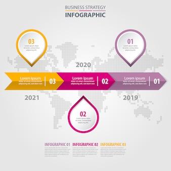 Zakelijke infographics ontwerpsjabloon illustratie. vector eps10.