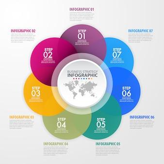 Zakelijke infographics ontwerpsjabloon illustratie