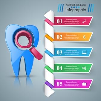 Zakelijke infographics origami stijl illustratie.