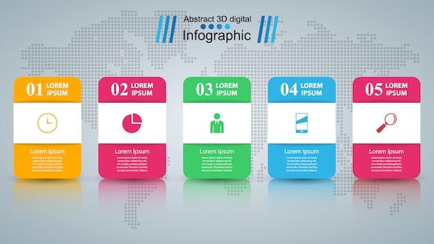 Zakelijke infographics origami stijl