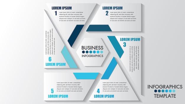 Zakelijke infographics proces.