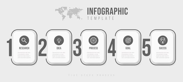 Zakelijke infographics sjabloon.