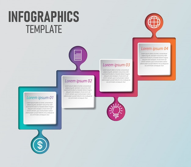 Zakelijke infographics sjabloon