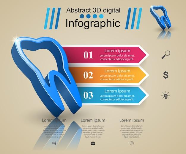 Zakelijke infographics. tand pictogram.