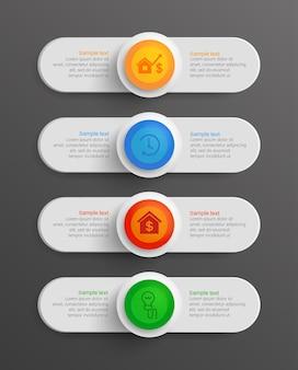 Zakelijke informatie infographic horizontale banners