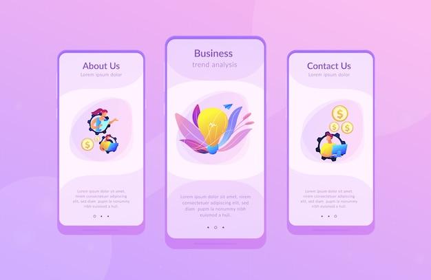 Zakelijke interface analyse app interface sjabloon
