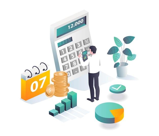 Zakelijke investeerders berekenen inkomsten