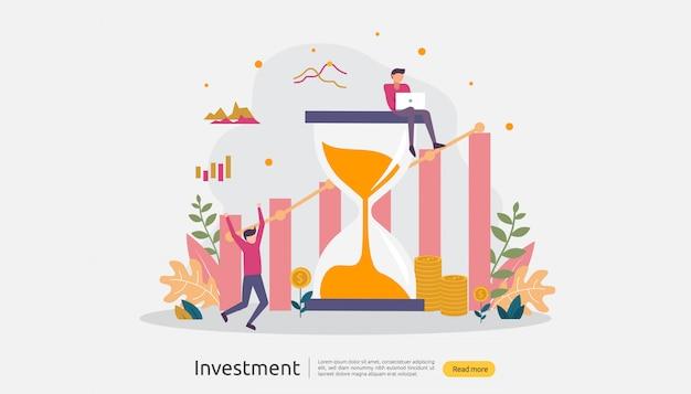 Zakelijke investeringen illustratie