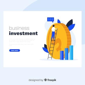 Zakelijke investeringsbestemmingspagina