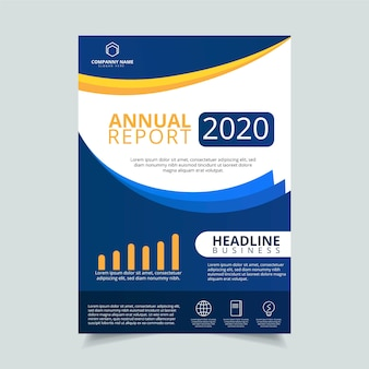 Zakelijke jaarverslag 2020 poster sjabloon
