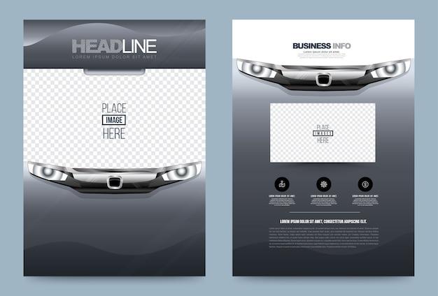 Zakelijke jaarverslag brochure folder ontwerpsjabloon